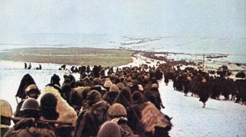 Italiani in ritirata sul fronte del Don.