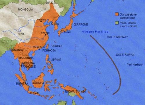Massima espansione Giapponese nel Pacifico