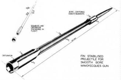 Schema di un proiettile per V3