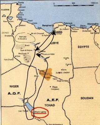 Mappa del viaggio