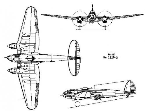 Schema di un He 111