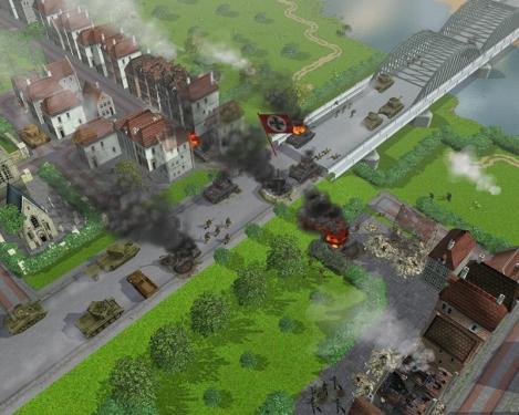 i panzer arrivano al ponte di Nijmegen