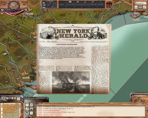 Fort Sumter bombardato: il gioco si fa duro
