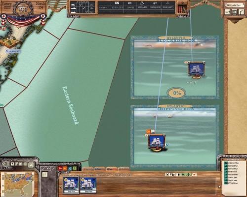 La mappa di una zona di mare
