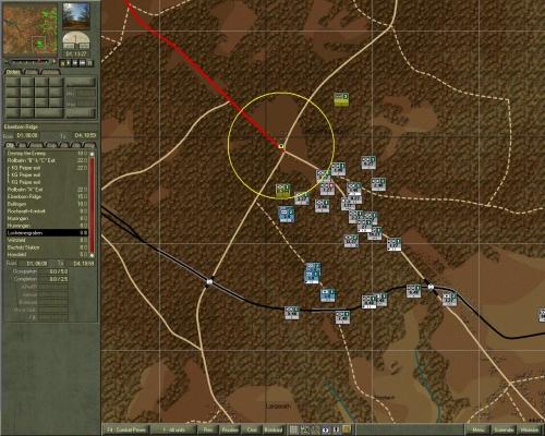 L'attacco preliminare a Losheimergraben a Sud: avevo già deciso di attaccare col KG Peiper qui, invece che più a Sud come avvenne in realtà.