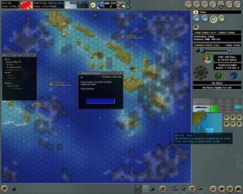 Il giocatore giapponese porta a compimento una missione secondaria dello scenario, guadagnando 15 punti vittoria.