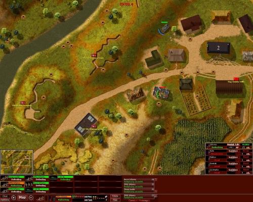 La mappa tattica! Un colpo di artiglieria ha casualmente centrato in pieno una squadra, con esiti tremendi...