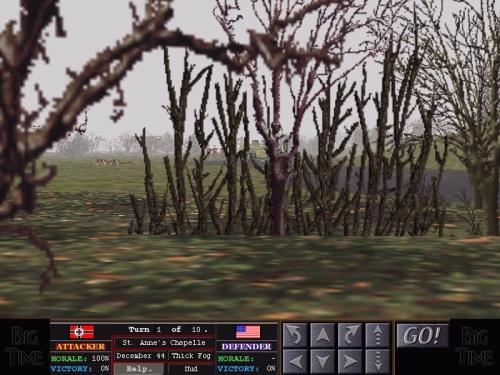 I miei uomini appostati dietro i cespugli hanno avvistato delle truppe tedesche emergere dalla nebbia