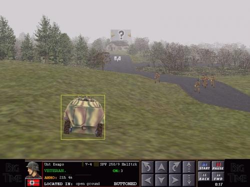 Blindato tedesco in supporto della fanteria