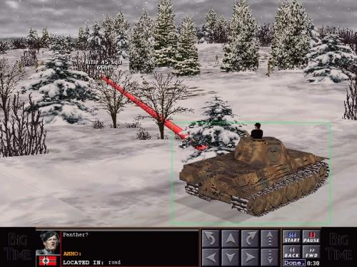Il Panther cerca di stanare la squadra di fanteria americana