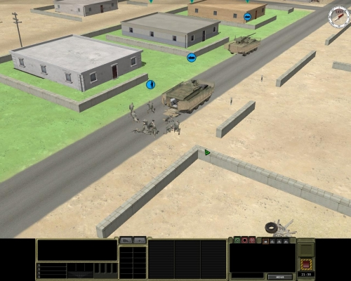 Urgono rinforzi! Le animazioni delle truppe che salgono e scendono dai veicoli sono buone.
