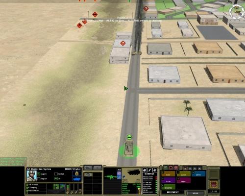 Questo MGS ha finito i fumogeni (Smoke lnchr) e dopo aver distrutto un BMP è sotto il tiro anticarro della fanteria siriana.