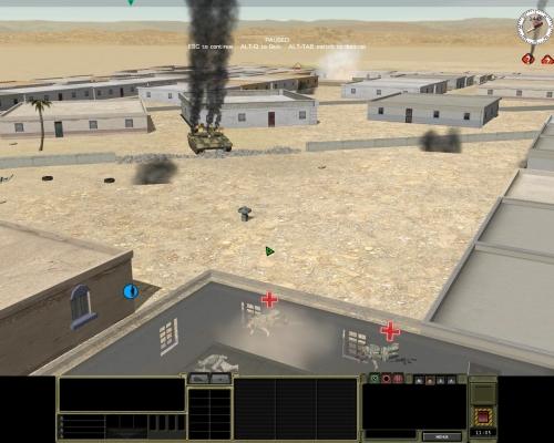 L'errore è costato caro alla squadra statunitense: il preciso fuoco di risposta del veicolo nemico l'ha polverizzata.