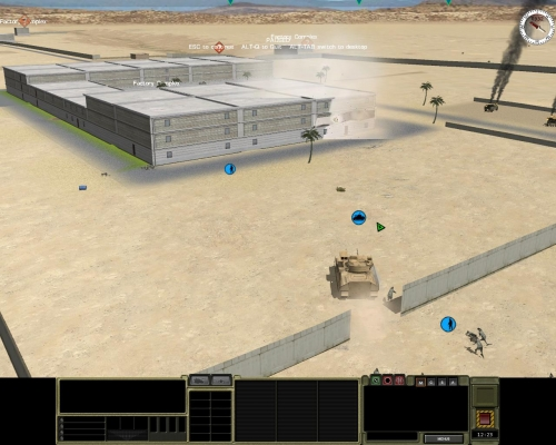 In questo screen, scattato durante un'altra missione, si vede una squadra americana che ha aperto un varco in un muro con una carica sagomata. Utile e realistico.