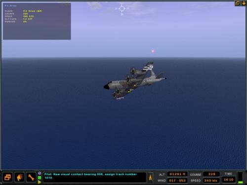 """Il nostro Orion lancia dei flares per """"ingannare"""" il missile ostile..."""