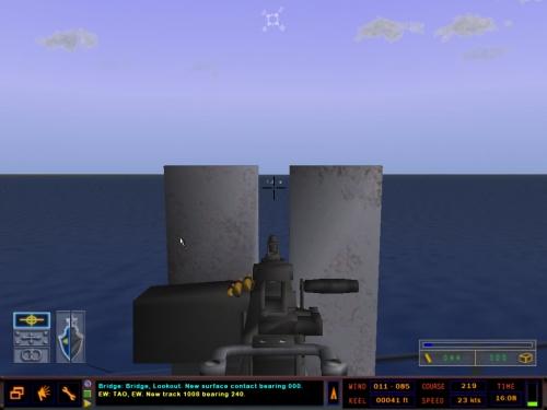 Ponte della fregata lancia missili di classe Oliver Hazard Perry.