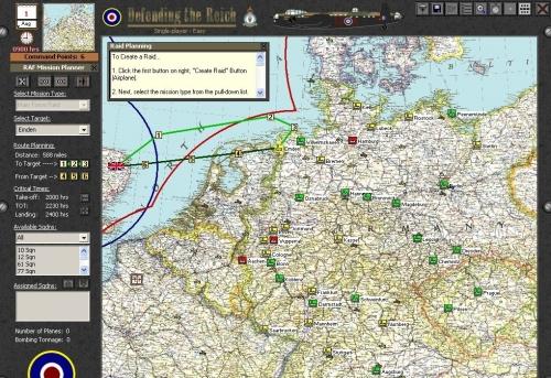 E' ora di scegliere il bersaglio e la rotta del raid. Una bella finta su Wilhelmshaven magari ingannerà la Luftwaffe.