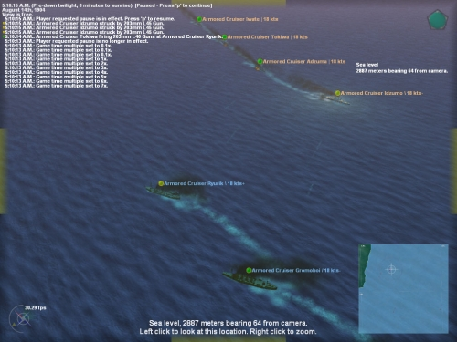 Lancio di torpedo all'alba