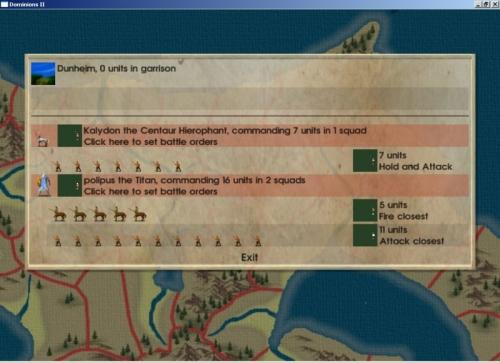 organizzate lo schieramento prima della battaglia (indovinate chi è 'polipus the Titan'...)