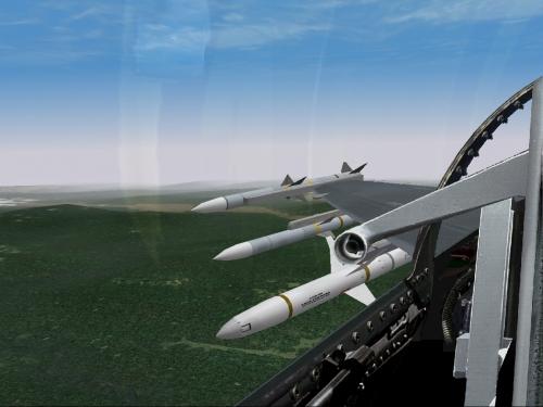 Missili aria-aria e un AGM-88 HARM antiradar