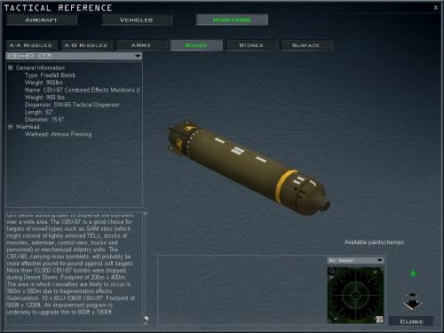"""La sezione """"tactical reference"""" è utile per conoscere meglio i mezzi e le armi"""