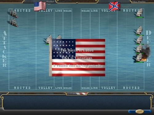 Gli scontri navali sono sempre risolti in modalità veloce