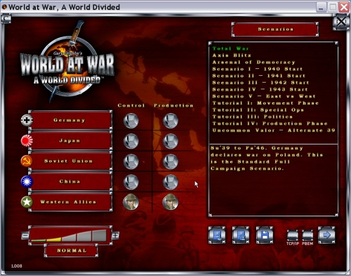 Schermata iniziale