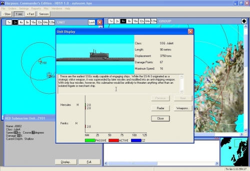 Dettaglio sottomarino classe Juliet.