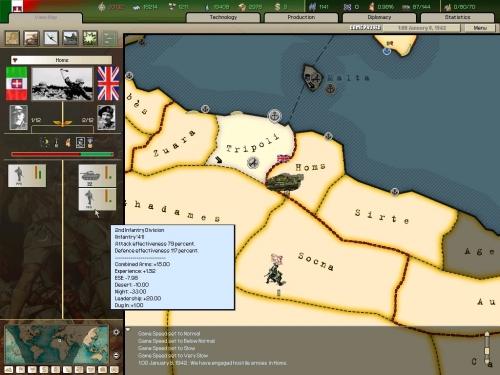 Una prode divisione italiana attacca gli Inglesi nel deserto libico.