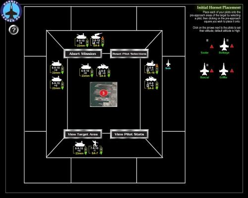 Attaccheremo da Est, ad alta quota, sopprimendo i SAM con missili HARM e volando sopra il grosso delle difese, adatte a contrastare solo bersagli a bassa quota!
