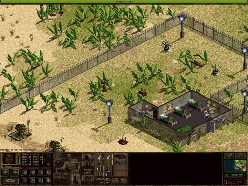 Il vostro mercenario centra il nemico alla testa (messaggio in basso a sinistra)