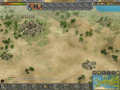 Visuale di gioco - Nord Africa.