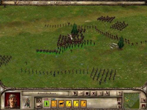 I miei fantastici Highlander, l'unica unità di fanteria che può caricare. Pazzi Scozzesi! (sx).