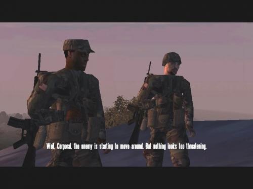 Spesso ci sono brevi introduzioni alle missioni, fatte con lo stesso engine del gioco.
