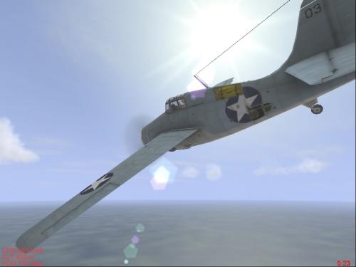 Un F4F in volo radente