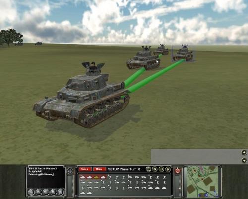 altra angolazione degli stessi mezzi. La visuale 3D con camera libera consente di ammirare ogni dettaglio delle unità e del campo di battaglia