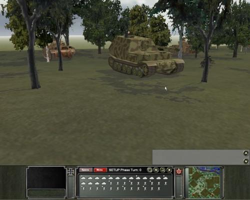 il grande carro d'assalto tedesco visto da un'angolazione frontale. Notate il micidiale cannone da 88