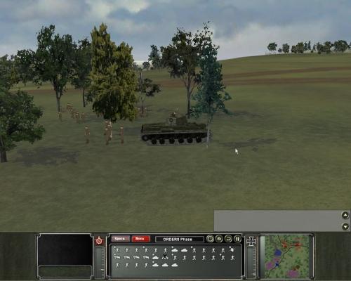 Fanteria sovietica con supporto pesante di un KV1. Come potete ben vedere da questo screenshot, per la fanteria qualche sforzo in più potevano farlo…