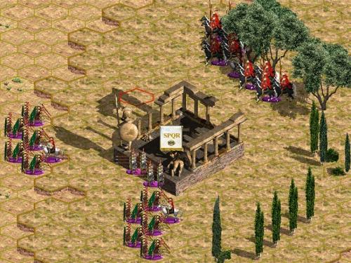 Il tempio in rovina da difendere con pochi uomini.