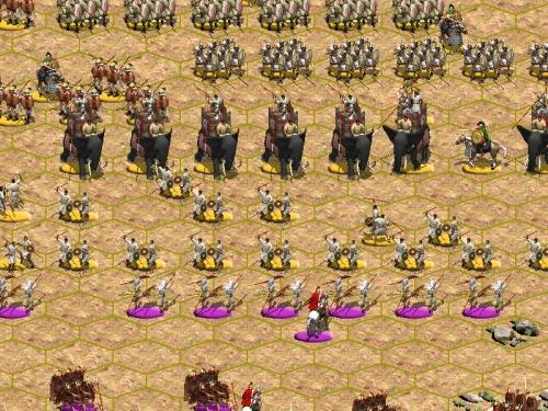 Il compito della fanteria leggera cartaginese è disorganizzare i veliti romani permettendo agli elefanti di caricare le legioni. Ma se gli elefanti poi non avessero successo, la fanteria alle loro spalle sarebbe senza speranza!