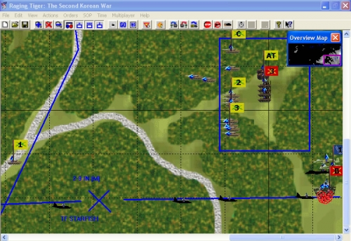 Degli aerei nemici intercettano le truppe che tentavano di raggiungere una strada secondaria