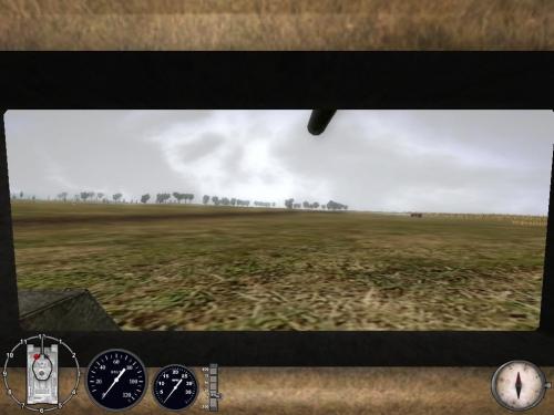 Vista pilota di un carro
