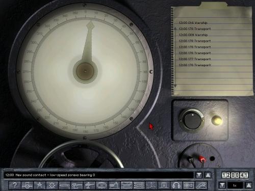 La sound room. Abbiamo un convoglio a poppa e due navi da guerra (cacciatorpedinieri?) a prua