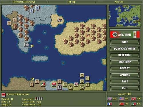 Forza Rommel! Anche se il nord africa è ristretto a poco esagoni ce la puoi fare a raggiungere Alessandria! Forse..
