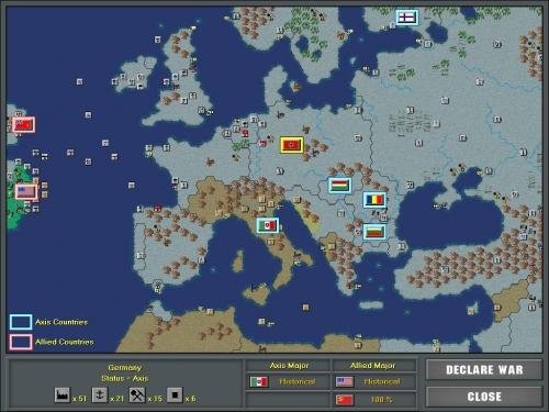 L'intera Europa sotto il dominio delle potenze dell'Asse