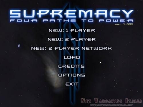 Schermata d'inizio, come si può vedere non è prevista nesuna campagna singleplayer.
