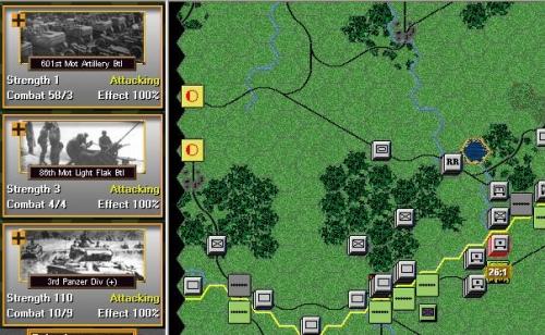 La 3a Panzer division è pronta per colpire, si può notare il rapporto previsto circa 26:1