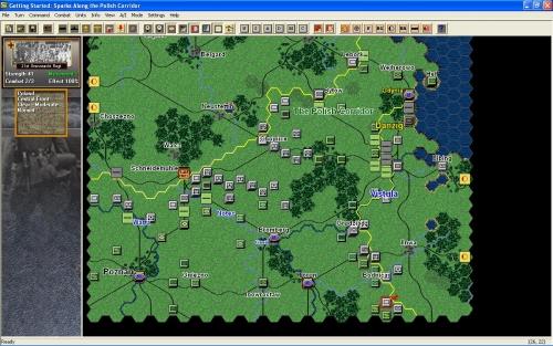 Si può notare come le forze tedesche stiano per tagliare in due il corridoio di Danzica!