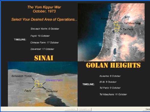 Teatri di guerra e operazioni per la guerra dello Yom Kippur