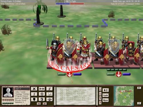 Ecco Cesare pronto alla battaglia.
